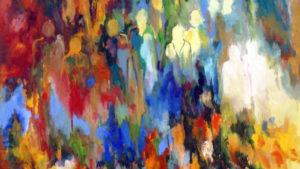 Schilderij Johanna Walters | Titel: Mensen nr. 3527